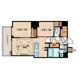 文京ガーデン・ザ・サウス 15階2LDKの間取り