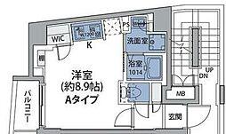 JR総武線 中野駅 徒歩8分の賃貸マンション 3階ワンルームの間取り