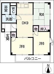CORPOLUSSAKAI[2階]の間取り