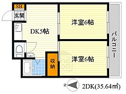 エリータ桃山台2[1階]の間取り