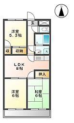 イーストマンション[1階]の間取り