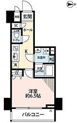 東京メトロ千代田線 湯島駅 徒歩1分の賃貸マンション 2階1Kの間取り