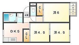 VIPハイツ[2階]の間取り