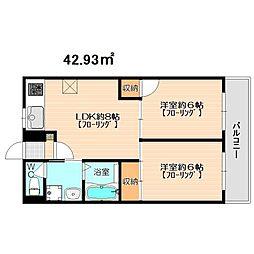 アーバン寺塚[2階]の間取り