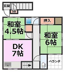 [一戸建] 兵庫県尼崎市浜3丁目 の賃貸【/】の間取り
