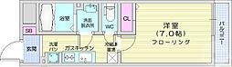 仙台市地下鉄東西線 宮城野通駅 徒歩8分の賃貸マンション 1階1Kの間取り