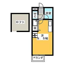 KハイツA棟[2階]の間取り