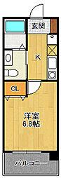 ダイドーメゾン阪神西宮駅前[6階]の間取り