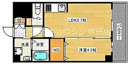 アンフィニ18吹田昭和町 5階1LDKの間取り