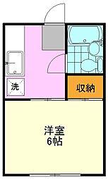 サンヘーベル[2階]の間取り