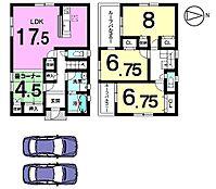 土地面積80.16坪全室南向きで陽当たり重視のお客様にもきっとご満足頂ける物件です。1階はLDK畳コーナーで22帖の広々空間になりました。