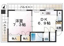 福井ビル bt[301kk号室]の間取り