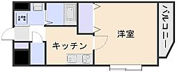 ディオパルテ祇園[3階]の間取り