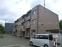 北海道札幌市北区百合が原7の賃貸マンションの外観