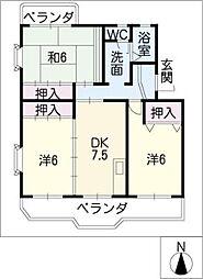 メゾン東栄 B棟[2階]の間取り