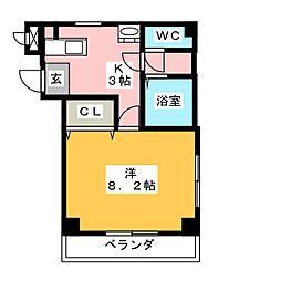 アーデルハイム[3階]の間取り