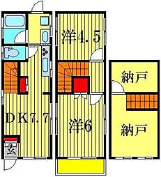 [一戸建] 東京都葛飾区柴又4丁目 の賃貸【/】の間取り