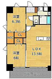 メディプラカーサ[11階]の間取り