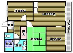リトルバレイ[1階]の間取り
