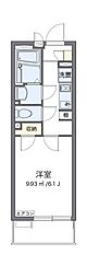 Osaka Metro中央線 朝潮橋駅 徒歩8分の賃貸マンション 2階1Kの間取り