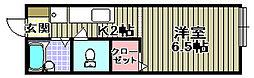 プレジール[A206号室]の間取り