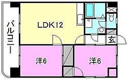 第五中村ビル[703 号室号室]の間取り