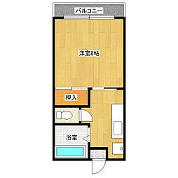 山本学園ビル[201号室]の間取り