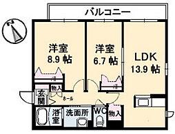 シャーメゾンKOGO[3階]の間取り