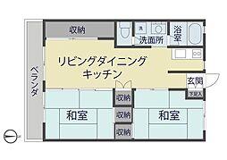西町川井マンション[103号室]の間取り