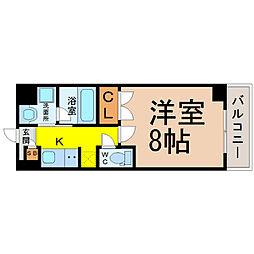 愛知県名古屋市千種区高見2丁目の賃貸マンションの間取り