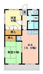 桜沢ハイツI[1階]の間取り