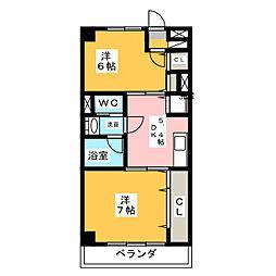 ヴィーナスI[6階]の間取り