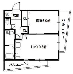 キャニスコート[5階]の間取り