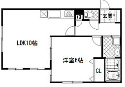 市川市福栄3丁目住宅[1F号室]の間取り