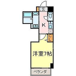 ポンテアルト新栄[6階]の間取り