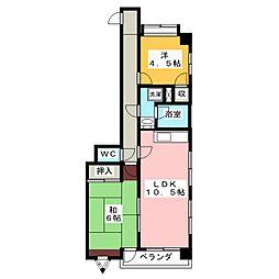 メゾンドサン[2階]の間取り