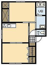 メゾン シャジン A0101号室[1階]の間取り