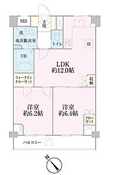 中新井サンライトマンション[507号室]の間取り
