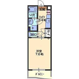 リエータ23[2階]の間取り