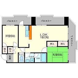 大阪府吹田市桃山台2丁目の賃貸マンションの間取り