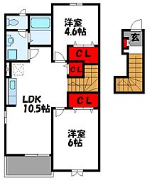 シーサイドコム A棟[2階]の間取り