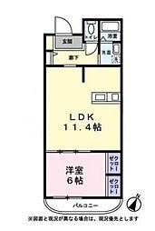 ハートヒルズ弐番館(ハートヒルズニバンカン)[3階]の間取り