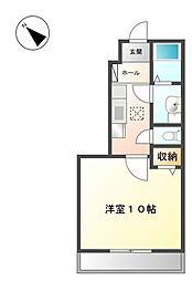 JR東海道本線 戸塚駅 バス8分 下倉田下車 徒歩2分の賃貸アパート 1階1Kの間取り