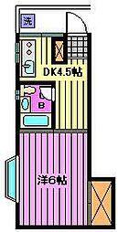 武蔵屋四番館[3階]の間取り