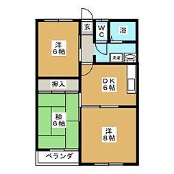 KCハイツI[2階]の間取り