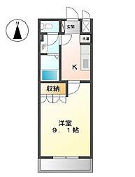 大阪府堺市美原区平尾の賃貸アパートの間取り