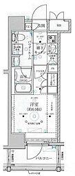 ベルグレード川崎AZ 15階1Kの間取り