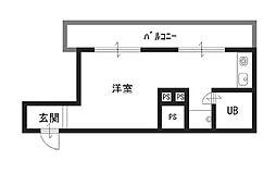 チサンマンション心斎橋[9階]の間取り