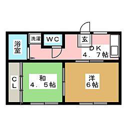 メゾン1410[1階]の間取り