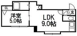 TSM豊平公園[203号室]の間取り